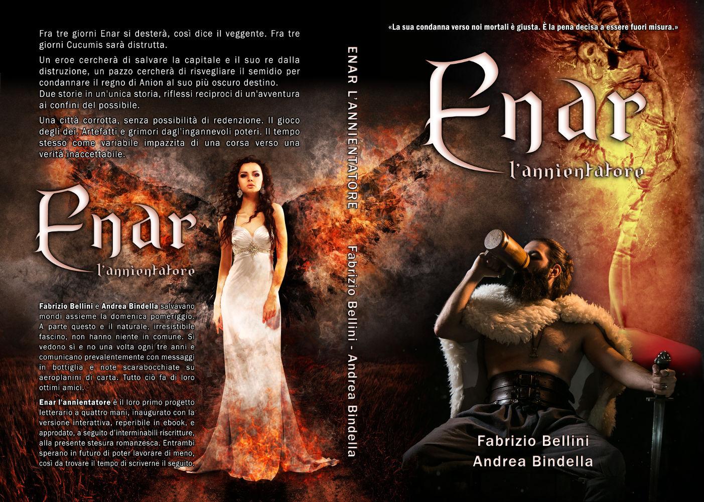 enar annientatore paperback romanzo fantasy maga guerriero andrea bindella autore fabrizio bellini